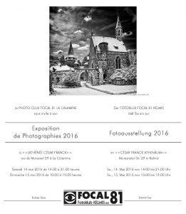 Fotoausstellung/Expo Fotos 2016 - Fotoclub Focal 81 Kelmis/La Calamine